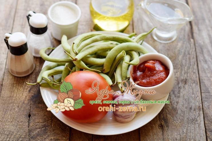 спаржевая фасоль в томатном соусе на зиму