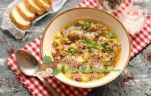 Суп с красным рисом и фрикадельками рецепт в домашних условиях