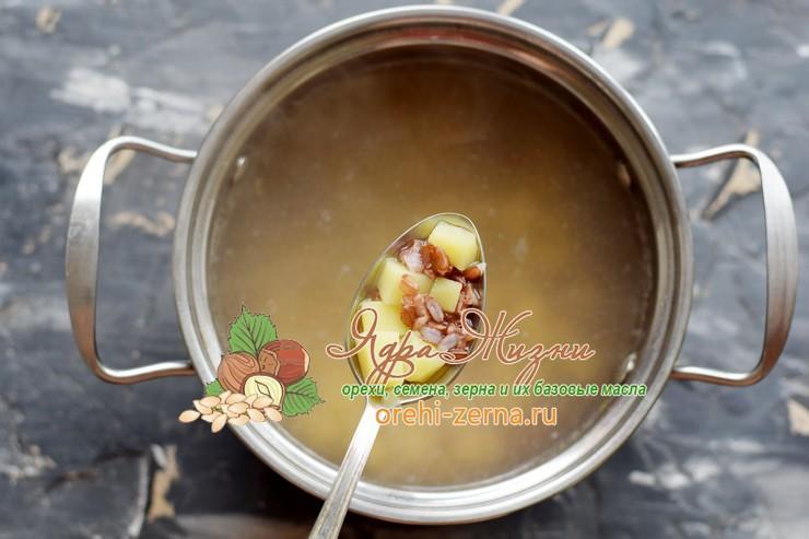 Суп с красным рисом и фрикадельками рецепт приготовления