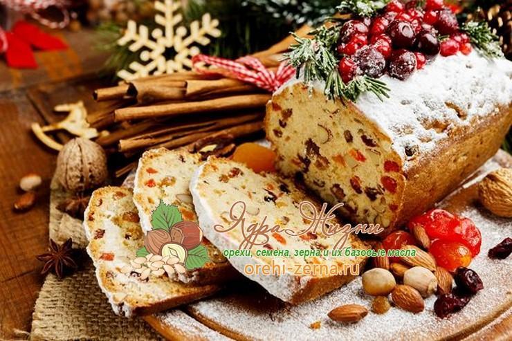 Рождественский пирог с цукатами