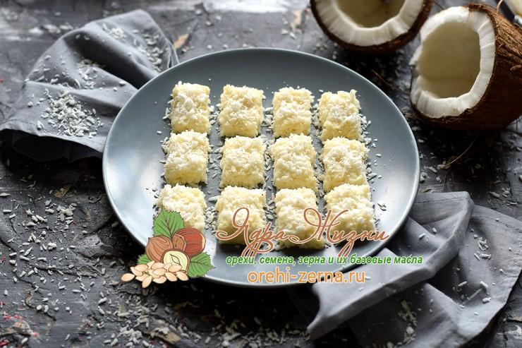 Кокосовые конфеты со сливками рецепт в домашних условиях