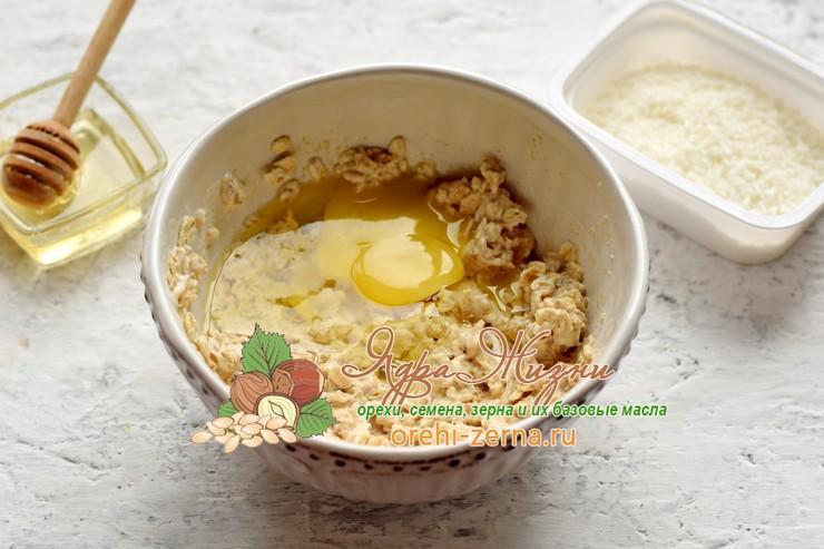 Овсяное печенье на кефире с кокосовой стружкой рецепт