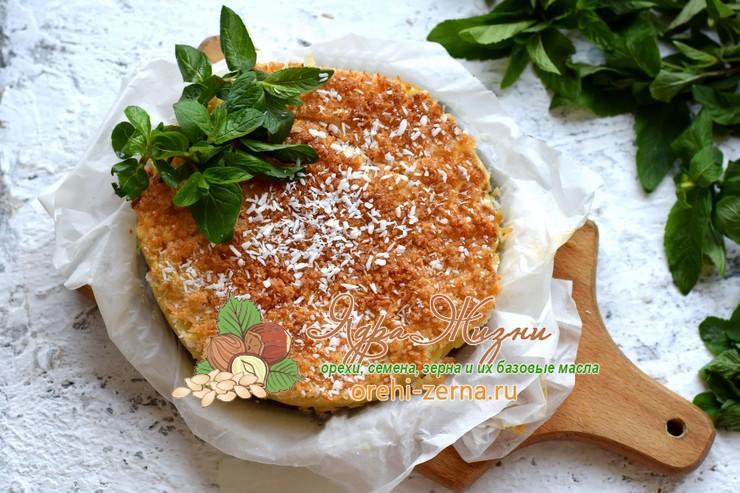 Пирог на кефире с кокосовой стружкой рецепт в домашних условиях