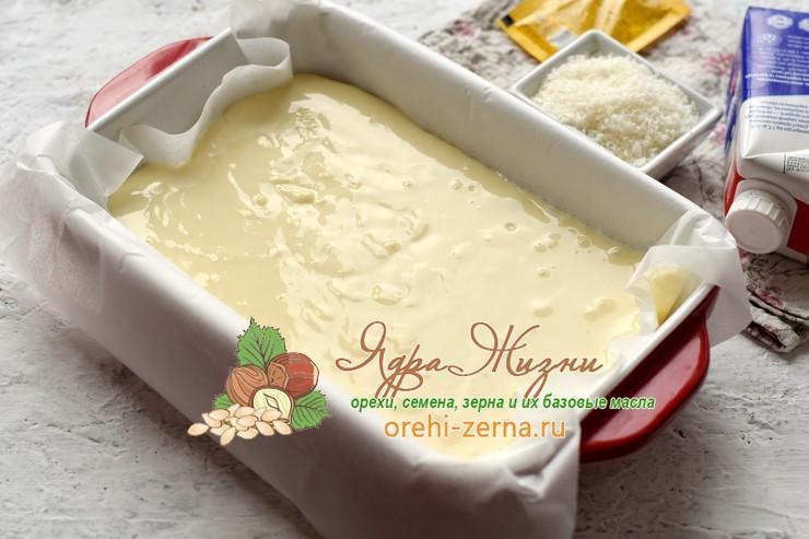 пирог с кокосовой стружкой и сливками рецепт в домашних условиях