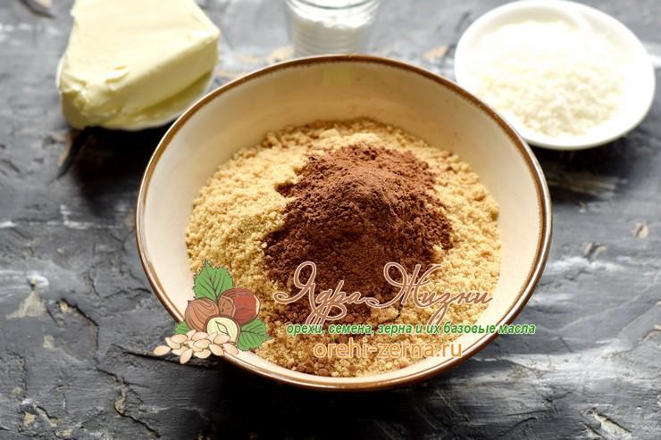 шоколадный рулет из печенья с кокосовой стружкой рецепт