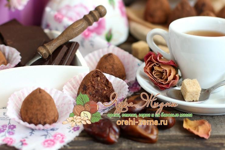 финиковые трюфели с темным шоколадом рецепт в домашних условиях
