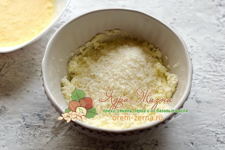 Творожное печенье с кокосовой стружкой рецепт