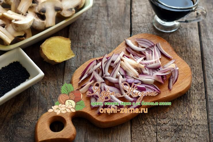 фунчоза с грибами и овощами рецепт в домашних условиях