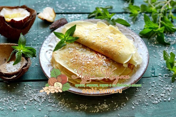 блины на кокосовом молоке пошаговый рецепт в домашних условиях