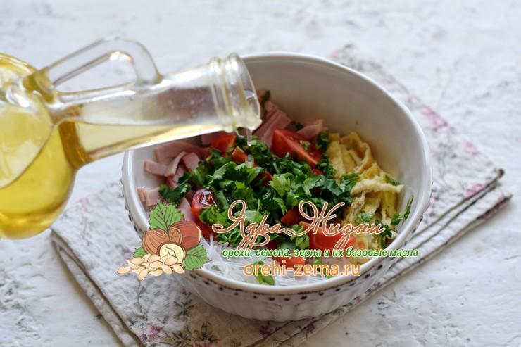 салат из фунчозы с ветчиной рецепт в домашних условиях