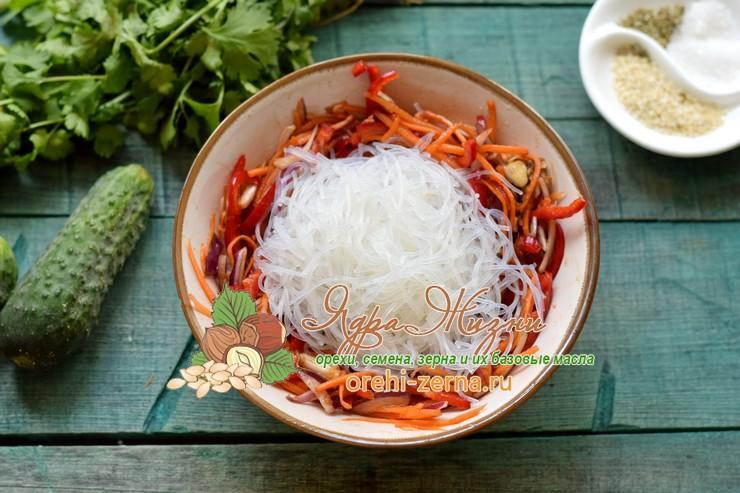 салат с фунчозой и овощами по-корейски рецепт в домашних условиях