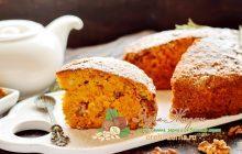 Морковный пирог с орехами рецепт