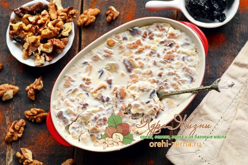 чернослив орехи в сметане рецепт приготовления