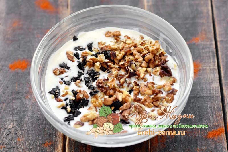 чернослив орехи в сметане рецепт