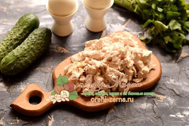 куриный салат с фасолью рецепт