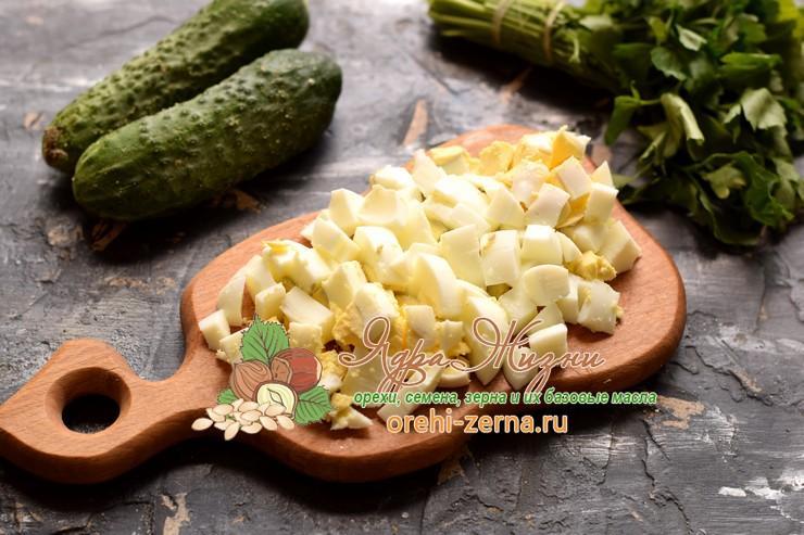 куриный салат с фасолью рецепт с фото