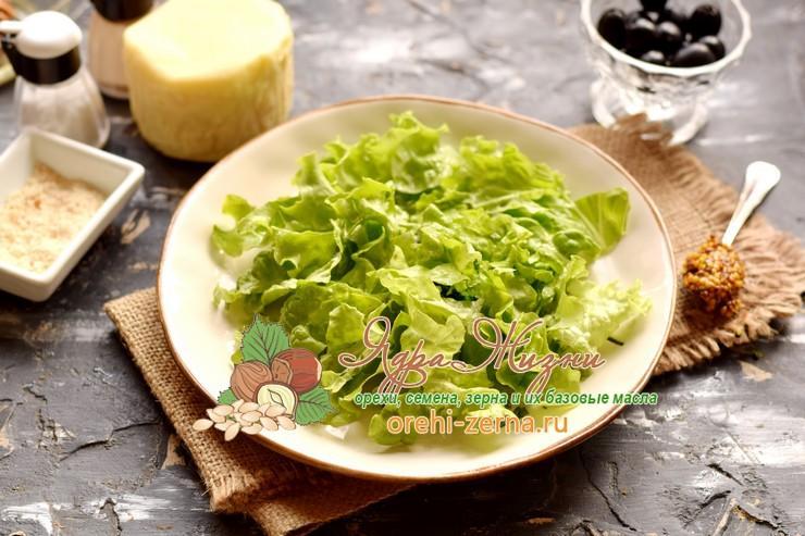 салат с фасолью и сыром рецепт