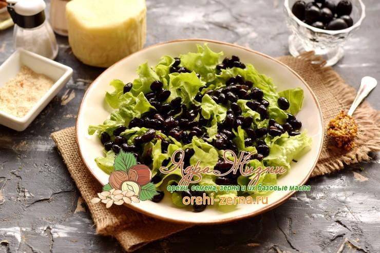 салат с фасолью и сыром рецепт с фото