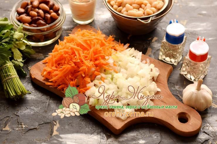салат с фасолью и овощами рецепт