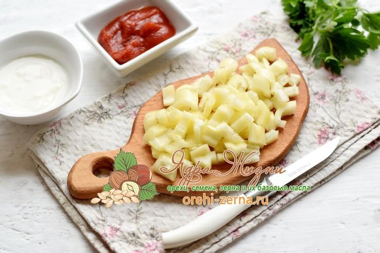 салат с фасолью и ветчиной рецепт
