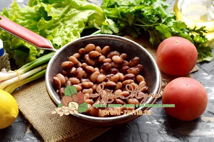 салат с фасолью и помидорами рецепт
