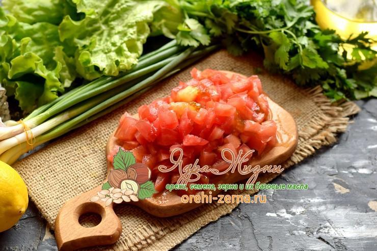 салат с фасолью и помидорами рецепт с фото