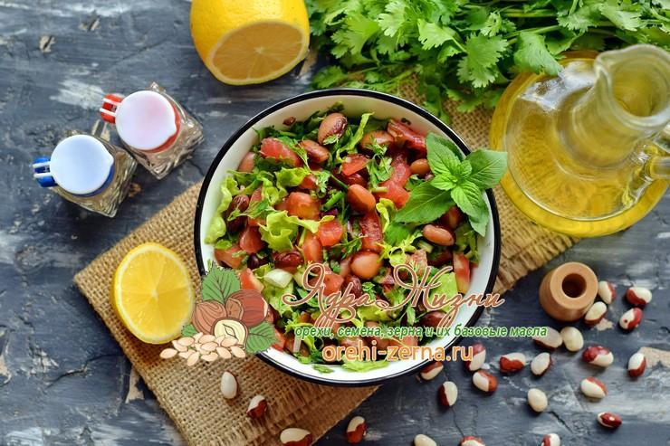 салат с фасолью и помидорами рецепт приготовления в домашних условиях