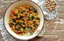 Миниатюра к статье Ароматный нежный нут с грибами в сливочном соусе — пошаговое домашнее приготовление