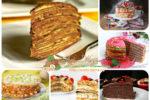 Миниатюра к статье Закусочный блинный торт — разные рецепты из зеленых и шоколадных блинов, с маскарпоне и несладкие варианты